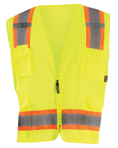 Men's High Visibility Two-Tones Surveyor Mesh Vest