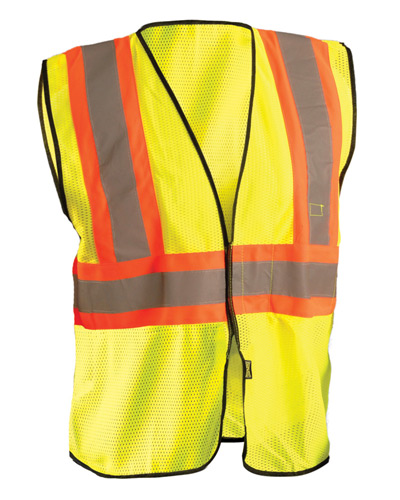 Men's High Visibility Value Two-Tone Safety Mesh Vest