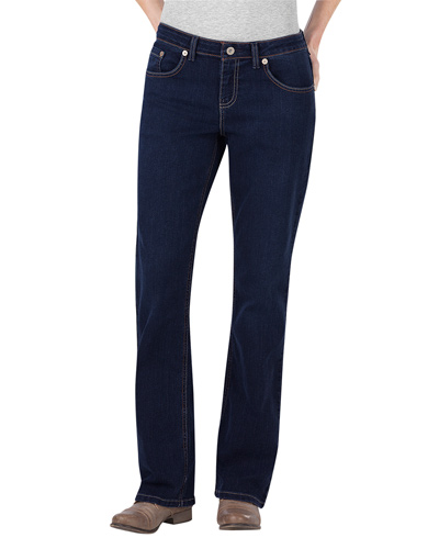 Ladies' Relaxed Boot Cut Denim Jean Pant