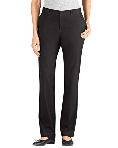 Ladies' Slim Fit Straight Leg Stretch Twill Pant