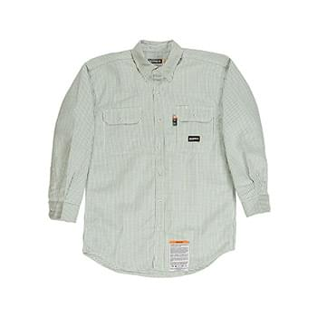 Men's Tall Flame-Resistant Down Plaid Work Shirt