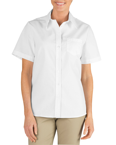 Ladies' Short-Sleeve Stretch Poplin Shirt