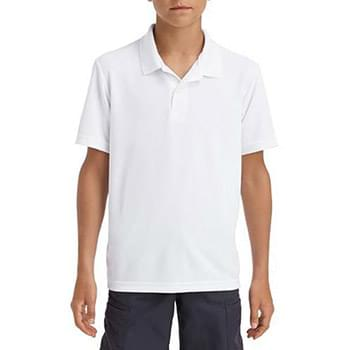 Performance Youth 5.6 oz. Double Pique Polo