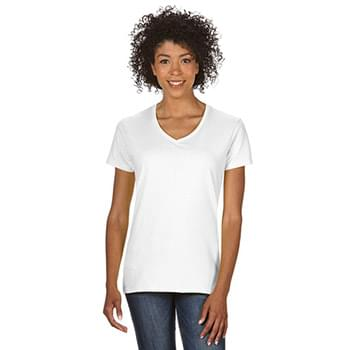 Ladies'   Heavy Cotton? 5.3 oz. V-Neck T-Shirt