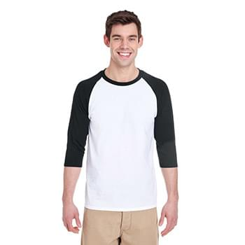Adult  Heavy Cotton 5.3 oz. 3/4-Raglan Sleeve T-Shirt