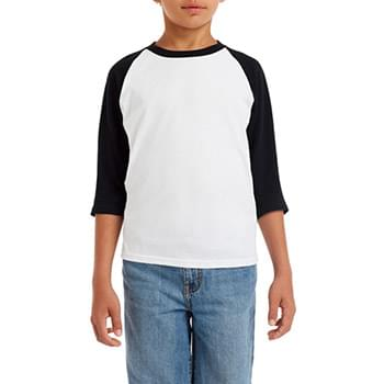 Youth  Heavy Cotton? 5.3 oz. 3/4-Raglan Sleeve T-Shirt