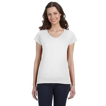 Ladies' SoftStyle  Fitted V-Neck T-Shirt