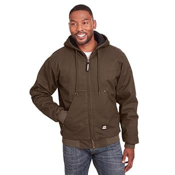 Men's Tall Highland Washed Cotton Duck Hooded Jacket