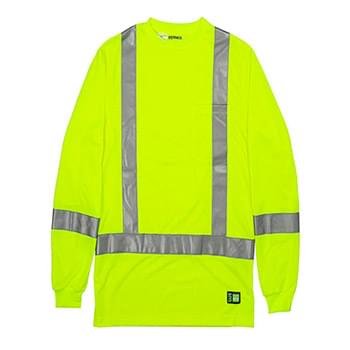 Men's Tall Hi-Vis Class 3 Performance Long Sleeve T-Shirt