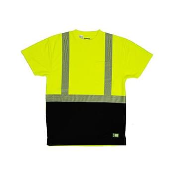 Unisex Hi-Vis Class 2 Color Blocked Pocket T-Shirt
