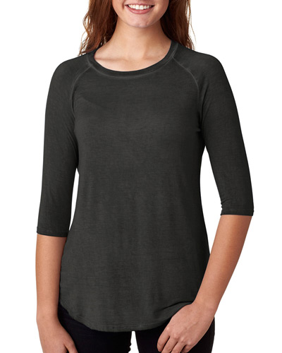 Ladies' Oasis Wash 3/4-Sleeve T-Shirt