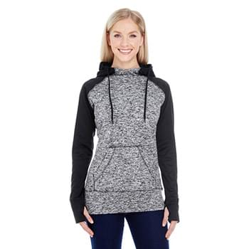 Ladies' Colorblock Cosmic Hooded Sweatshirt