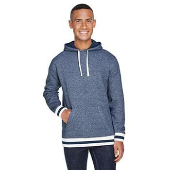 Adult Peppered Fleece Lapover Hooded Sweatshirt