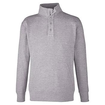 Ripple Fleece Snap Pullover