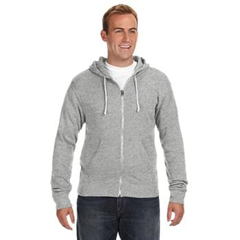 Adult Triblend Full-Zip Fleece Hood