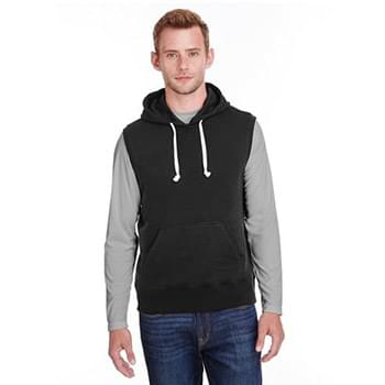 Adult Triblend Fleece Sleeveless Hooded Sweatshirt