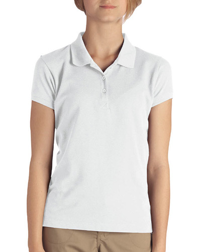 Girl's  Short-Sleeve Pique Polo