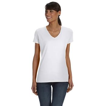 Ladies' 5 oz. HD Cotton? V-Neck T-Shirt