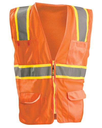 Men's High Visibility Classic Two-Tone Surveyor Safety Mesh Vest