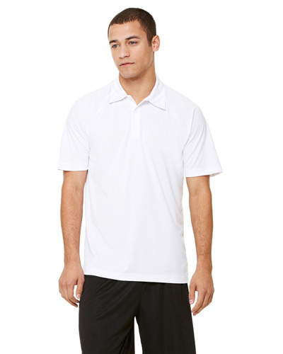 Unisex Performance Three-Button Raglan Polo