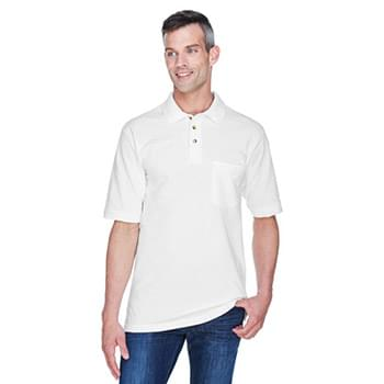 Adult 6 oz. Ringspun Cotton Piqu? Short-Sleeve Pocket Polo