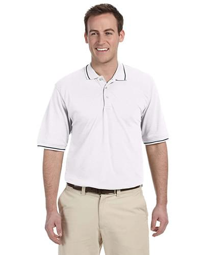 Men's 5.6 oz. Tipped Easy Blend Polo