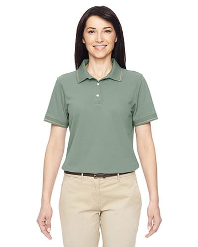 Ladies' 5.6 oz. Tipped Easy Blend Polo