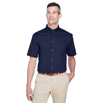 Men's Easy Blend? Short-Sleeve Twill Shirt with?Stain-Release