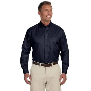 Men's Tall Easy Blend? Long-Sleeve Twill Shirt with Stain-Release