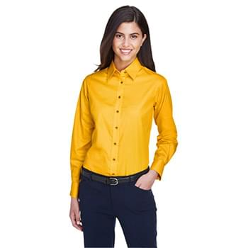 Ladies' Easy Blend? Long-Sleeve Twill?Shirt with Stain-Release