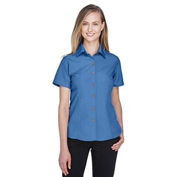 Ladies' Barbados Textured Camp?Shirt