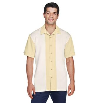 Men's Two-Tone Camp Shirt