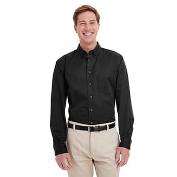 Men's Foundation 100% Cotton Long-Sleeve Twill Shirt withTeflon