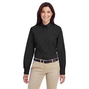 Ladies' Foundation 100% Cotton Long-Sleeve Twill Shirt with?Teflon?