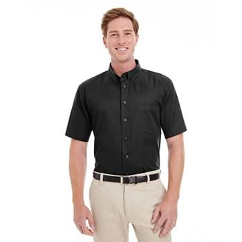 Men's Foundation 100% Cotton Short-Sleeve Twill Shirt with Teflon