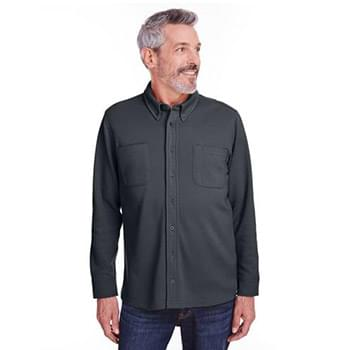 Adult StainBloc Pique Fleece Shirt-Jacket