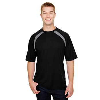 Men's Spartan Short Sleeve Color Block Crew Neck T-Shirt