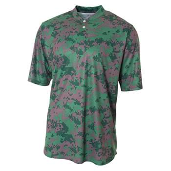 Youth Camo 2-Button Henley Shirt