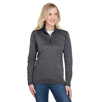 Ladies' Tonal Space-Dye Quarter-Zip