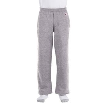Youth Double Dry Eco Open-Bottom Fleece Pant