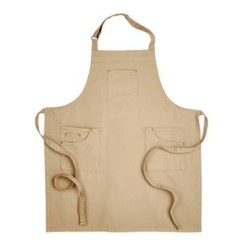 Unisex Cotton Chino Bib Apron