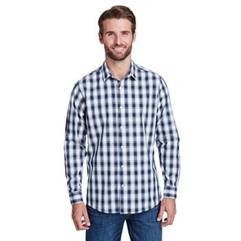 Men's Mulligan Check Long-Sleeve Cotton Shirt