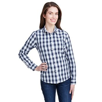 Ladies' Mulligan Check Long-Sleeve Cotton Shirt