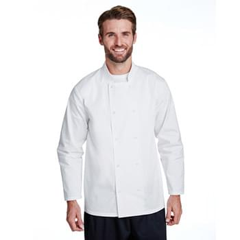 Unisex Studded Front Long-Sleeve Chef's Coat