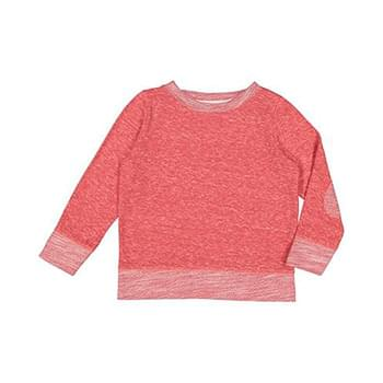 Toddler Harborside Melange French Terry Crewneck with Elbow Patches