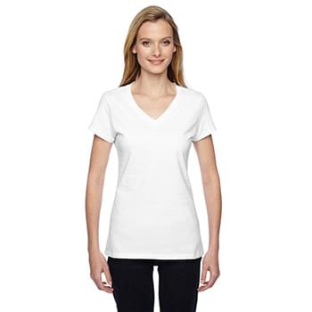 Ladies' 4.7 oz. Sofspun? Jersey Junior V-Neck T-Shirt