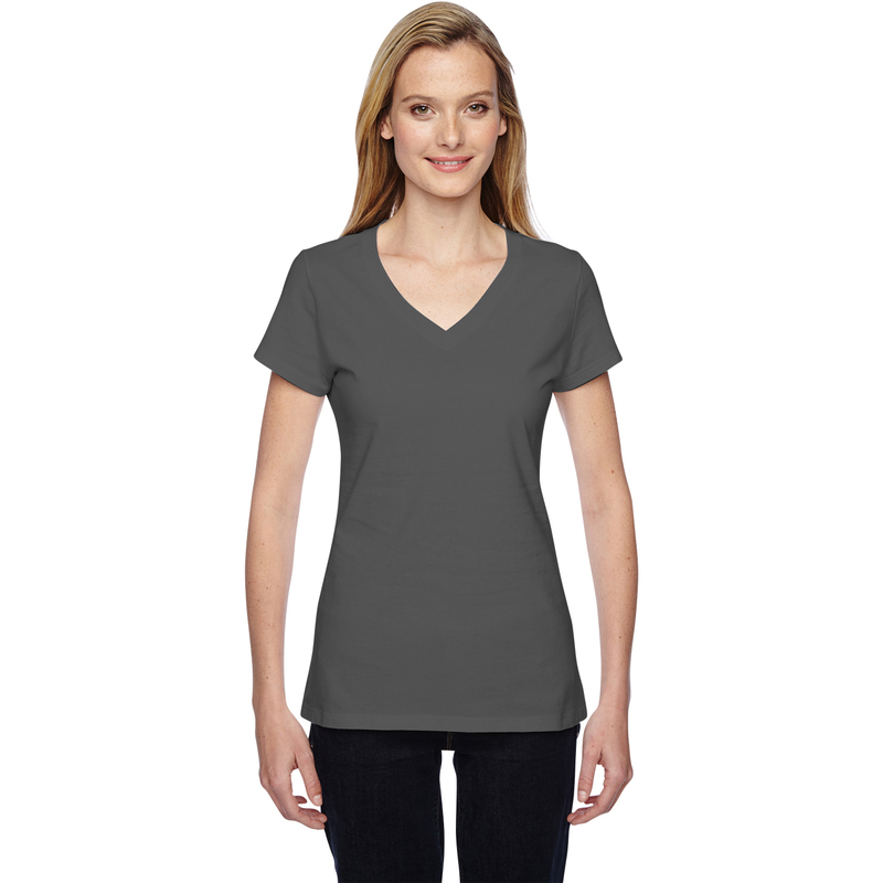 Ladies' 7.8 oz./lin. yd. Sofspun Jersey Junior V-Neck T-Shirt
