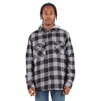 Adult Hooded Flannel Jacket