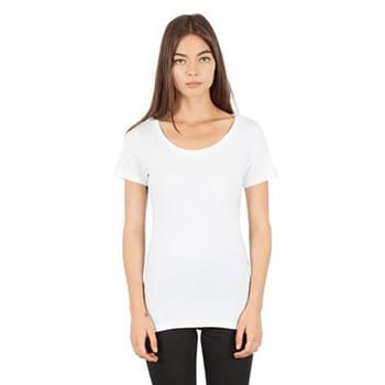 Ladies' Combed Ring-Spun Cotton Scoop T-Shirt