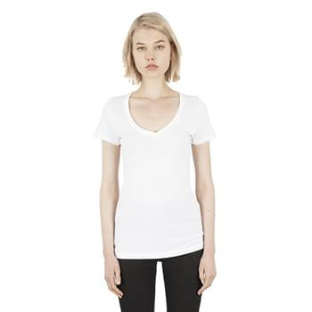 Ladies' 4.6 oz. Modal Deep V-Neck T-Shirt